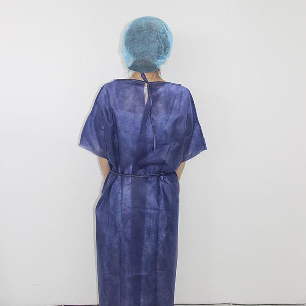 Disposable non woven patient gown